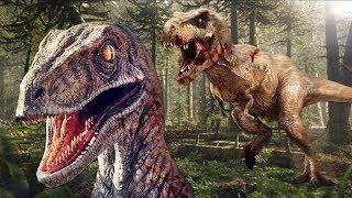 versuchen als Baby-Raptor zu überleben!