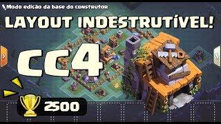 LAYOUT INDESTRUTÍVEL - CASA DO CONSTRUTOR NÍVEL 4!! - CLASH OF CLANS