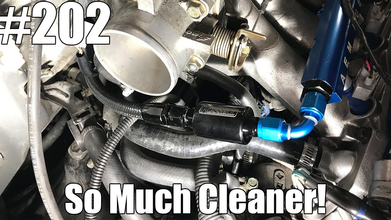 hight resolution of how to relocate your fuel filter for a cleaner look honda s acura s