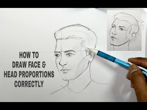 how-to-draw-face-correctly---head-proportions-for-any-angle-in-hindi
