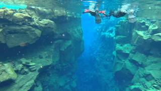 Snorkeling in the Silfra fissure, Thingvellir National Park