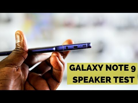 Galaxy Note 9 Speaker Test!!!