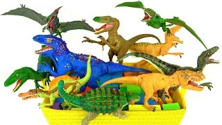 Learning Learn Dinosaurs Jurassic World Dinosaur box T rex 🌋Volcano - Kids educational video