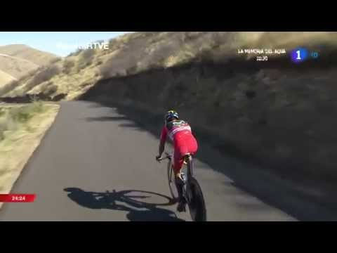 Nairo Quintana suffered a crash in the time trial Vuelta a España 2014