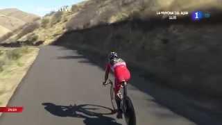 Nairo Quintana suffered a crash in the time trial Vuelta a España 2014