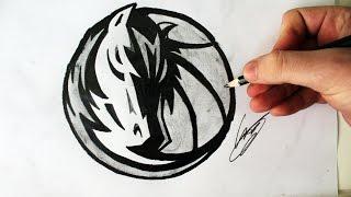 Como Desenhar a logo dos Dallas Mavericks [NBA] - (How to Draw Dallas Mavericks logo) - NBA LOGOS #2