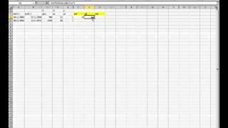 Excelde Datedif Fonkisyonu ile iki tarih arasındaki gün ay ve yıl farklarını hesaplamak.avi