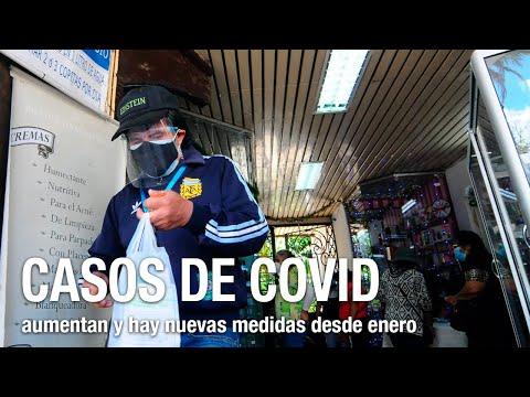 Casos de COVID aumentan y autoridades dan nuevas medidas desde enero
