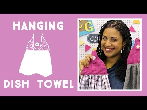 Make An Easy Hanging Kitchen Towel