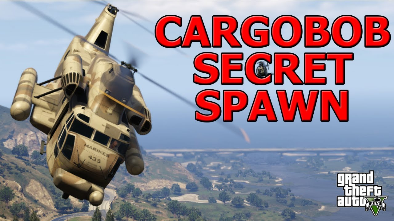 GTA ONLINE - SECRET CARGOBOB LOCATION (SPAWNS ONLY AT ...