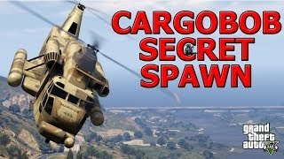 GTA ONLINE - SECRET CARGOBOB LOCATION (SPAWNS ONLY AT CERTAIN LEVEL RANGE)