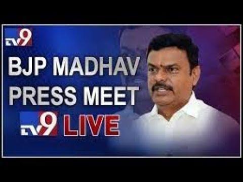 BJP MLC Madhav Press Meet LIVE || Vijayawada - TV9