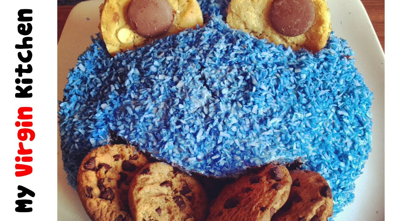 COOKIE MONSTER CAKE RECIPE - YouTube