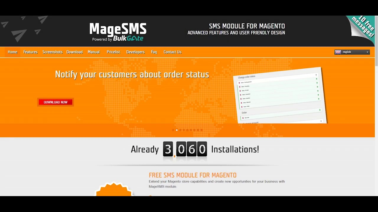 Mage SMS - SMS notification and SMS marketing module for Magento