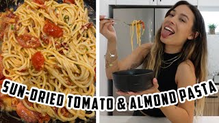 COOKING WITH KRISTEN!  Sun-dried Tomato &amp Almond Pasta