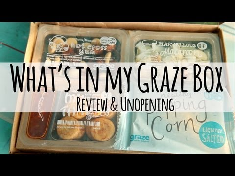 My Graze Box review and new box unboxing 9th Oct 2013