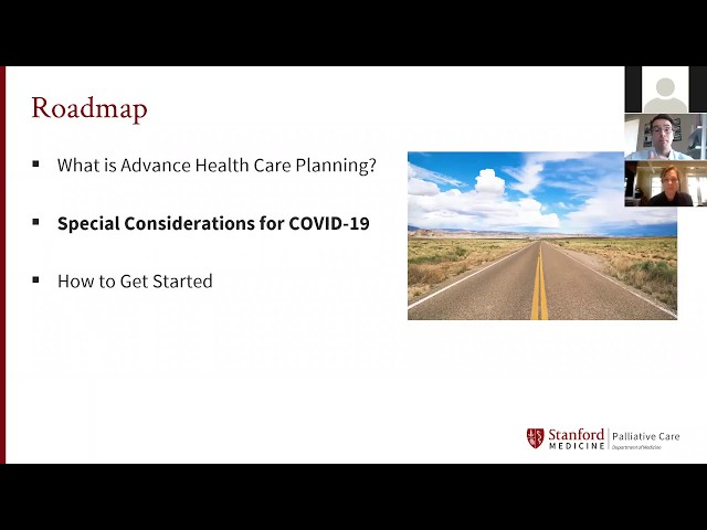 Stanford Palliative Care Webinar: What if I Get Seriously Ill? Advance Care Planning During COVID 19
