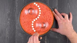 Position 2 Glasses On The Cake & Cut It Like THIS