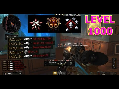 What LEVEL 1,000 of SNIPING ONLY looks like in Black Ops 4.. (MAX RANK SNIPER)