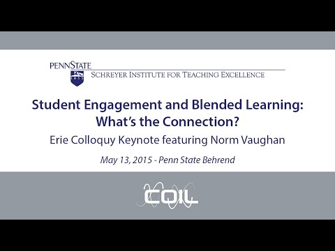 Student Engagement and Blended Learning: What's the Connection? featuring Norm Vaughan