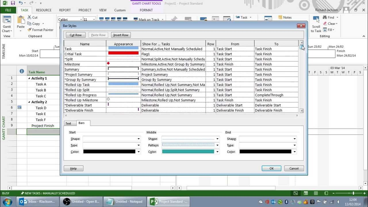 Creating The Perfect Print View In Microsoft Project Youtube