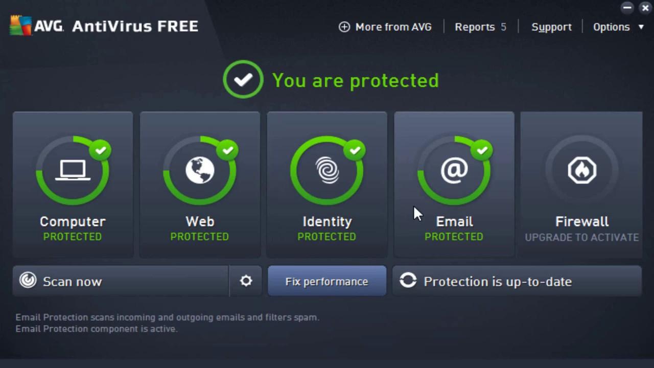 best free antivirus firewall 2017
