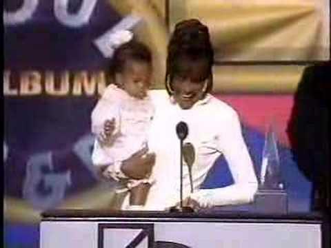 America music award Whitney & her baby