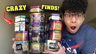I Bought One Of Every Pokemon Cards Tin On Black Friday And Opened Them! **insane**