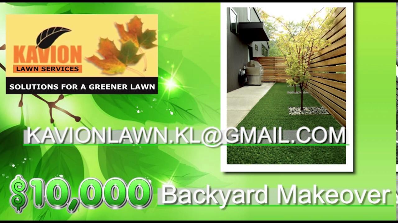 kavion lawn 10 000 backyard makeover youtube