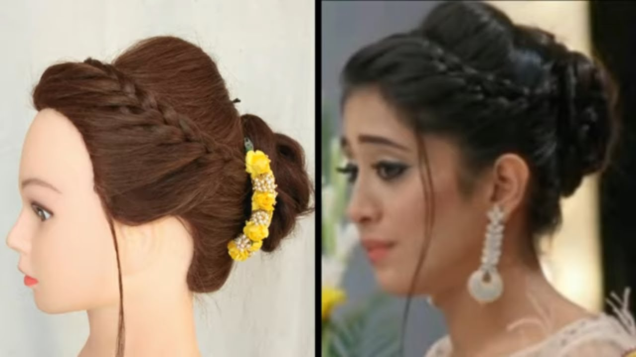 Easy Hairstyle For Wedding Party Cerecony Inspired By Naira Awesome Party Hairstyle For Girls Youtube