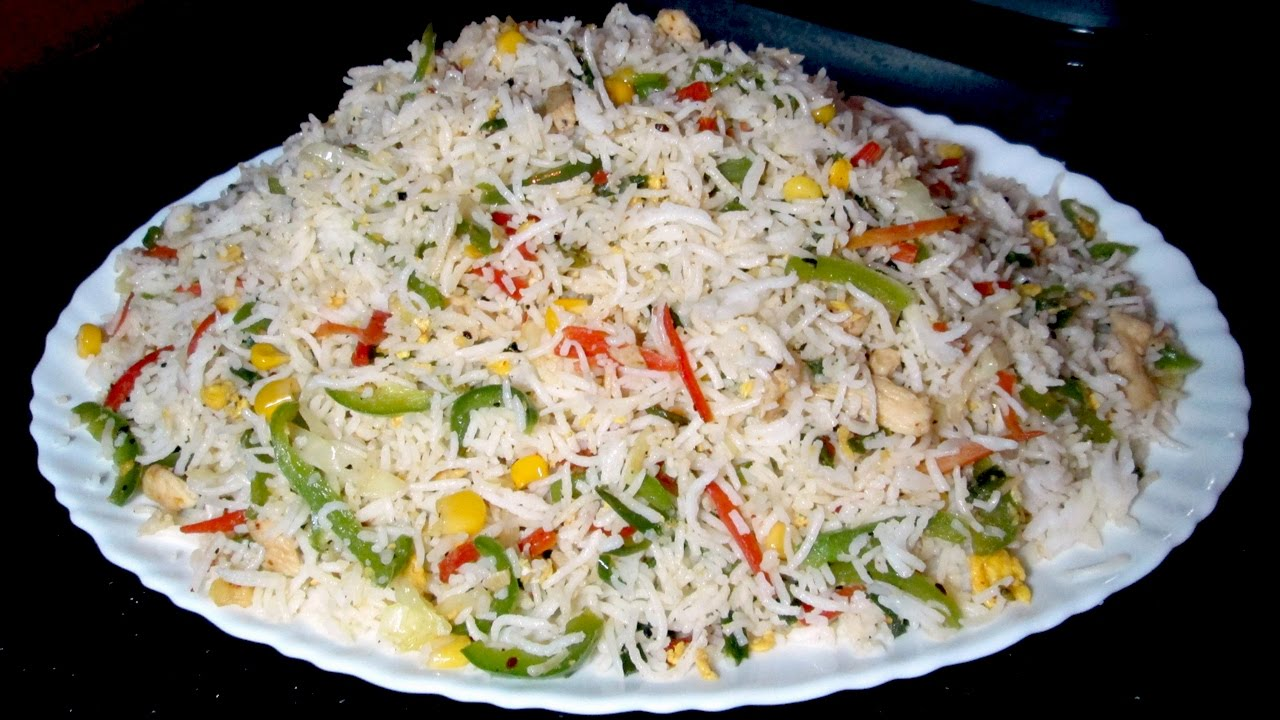 Vegetable Fried Rice Recipe - Fried Rice Restaurant Style -4974