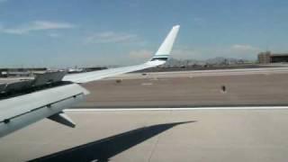extremely hard landing at phoenix runway 25r alaska 737 800 funny flight attendant