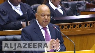 South Africa's finance minister faces dismissal