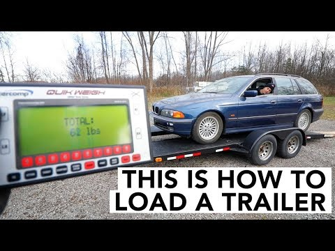 How To Load A Car Onto A Trailer