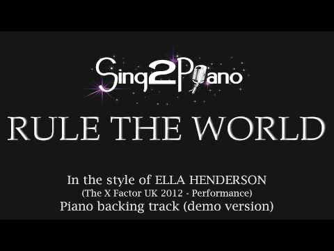 Rule the World (Piano Karaoke Version) Ella Henderson [Take That]