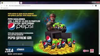 Pepsi Kod Üretici 2019 GÜNCEL! %100 Çalışıyor