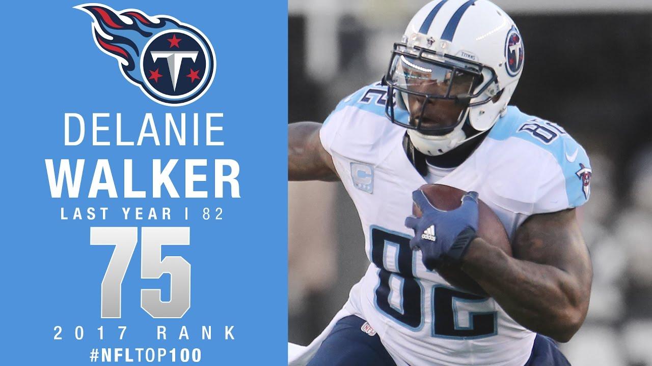 75 Delanie Walker TE Titans Top 100 Players of 2017