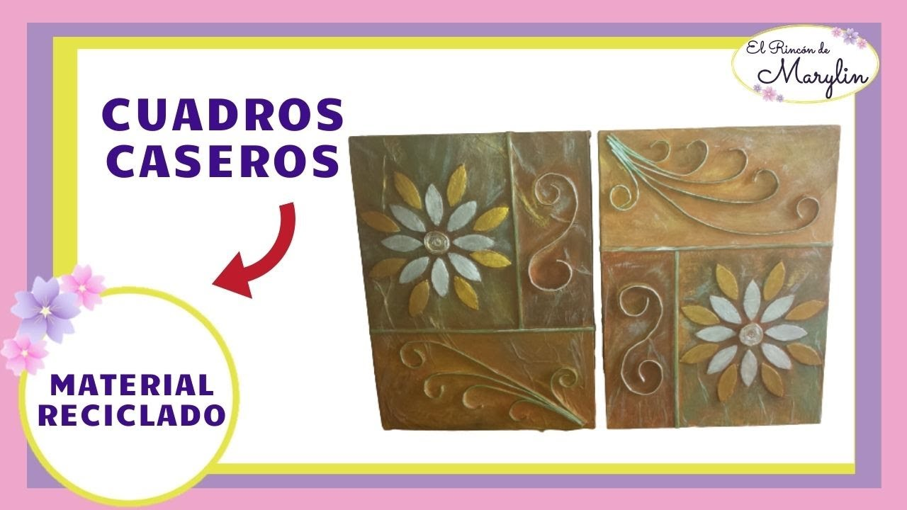 cuadros decorativos reciclando carton y papel