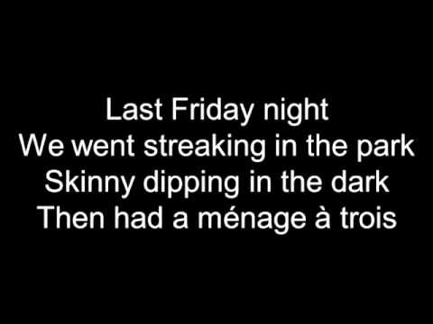 Katy Perry Last Friday Night TGIF Lyrics