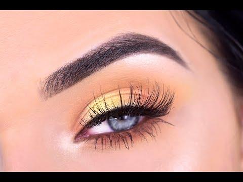 VIOLET VOSS FLAMINGO EYESHADOW PALETTE | Yellow Eye Makeup Tutorial
