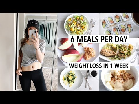 I tried a 6-MEAL-PER-DAY Weight Loss Diet for 1 Week (+ Results!) | What I eat in a week, Meal prep