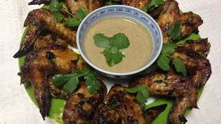 Любимые Рецепты.  Куриные крылышки с соусом из грецких орехов.  По вкусу напоминают сациви