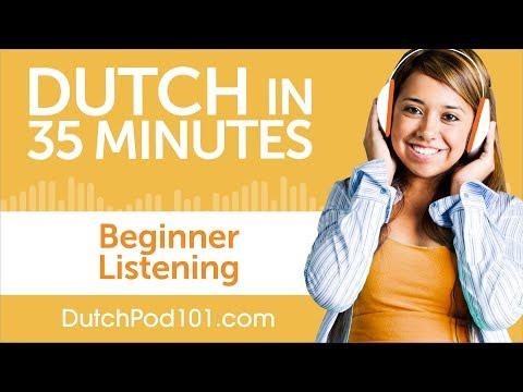 35 Minutes of Dutch Listening Comprehension for Beginner