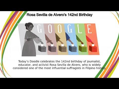Rosa Sevilla de Alvero | Rosa Sevilla de Alvero's 142nd Birthday