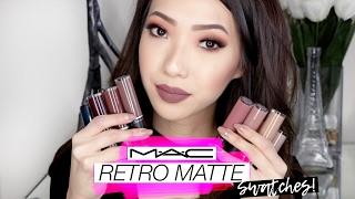 MAC Retro Matte Liquid Lipcolour Swatches!