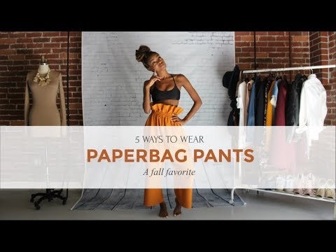 5 Ways to Wear | Paperbag Pants