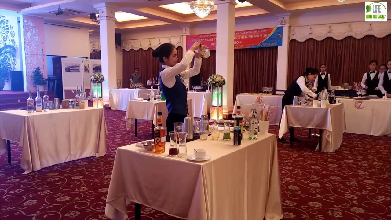 MỸ DUYÊN sinh viên trường SÀI GÒN TOURIST –  Pha chế cocktail and mocktail