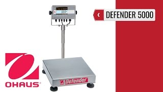 OHAUS Defender 5000 Bench Scale (product video presentation)