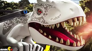 LEGO Jurassic World T-Rex Tracker Indominus Rex Breakout Whole Set Toy Unboxing!