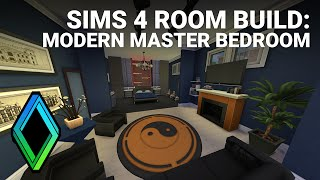 Sims 4 Modern Master Bedroom - Room Build